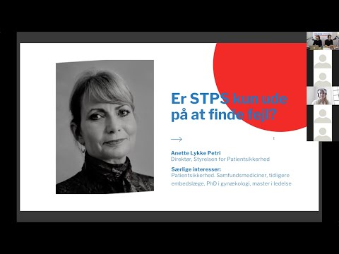 DASEM Årsmøde 2021 - Anette Petri - Er STPS kun ude på at finde fejl?