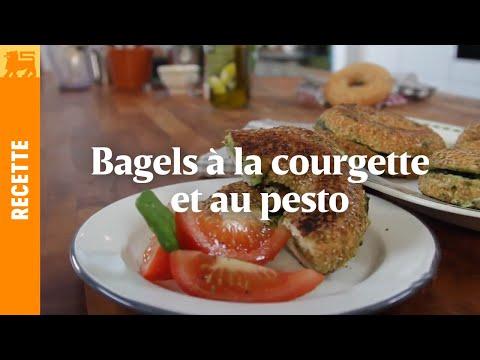 Bagels à la courgette et au pesto