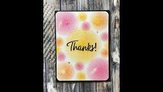 Altenew شكرا بطاقة أكتوبر اللون التحدي مع خلق في المنزل مع ز