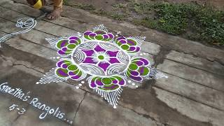 5-3 Simple and easy kolam...