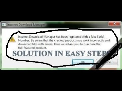 How to fix IDM has been registered with fake serial number in EASY STEPS | IDM | HowTO