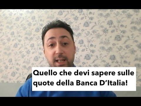 Di Chi è La Banca D'Italia? Le Quote Sono Delle Banche Commerciali..Unicredit, Intesa San Paolo...