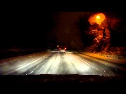 A drive through the snow in Dublin