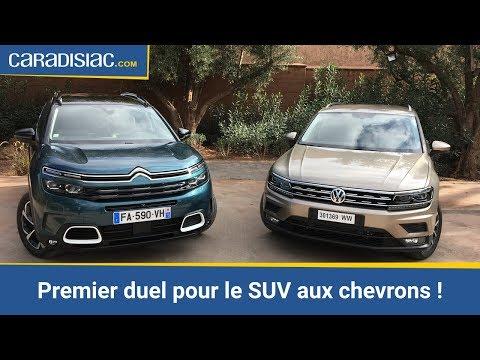 Hyundai Derniers Mod C3 A8les >> Citroen C5 Aircross Vs Volkswagen Tiguan Premier Duel Du Suv Aux Chevrons