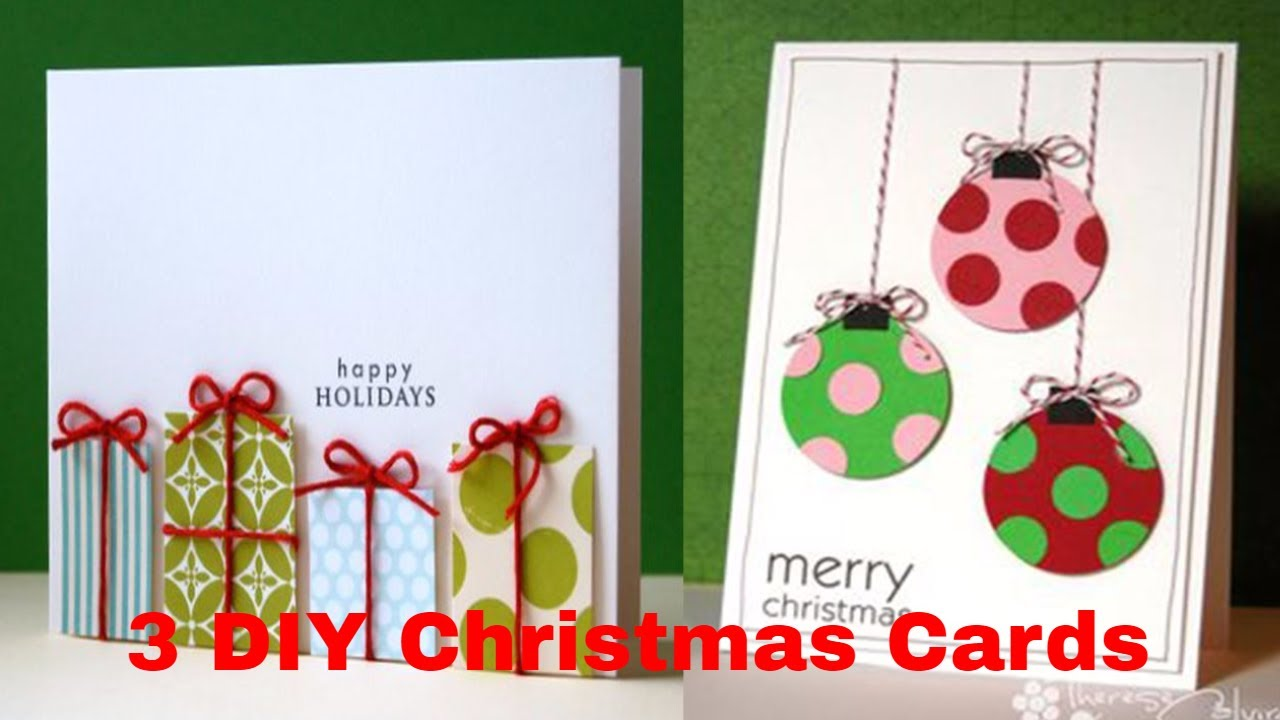 3 DIY Christmas Cards - DIY Christmas Crafts - How to Make Handmade ...