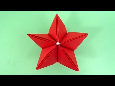 How To Make a 3D Paper Star For Christmas Decorations | Paper Christmas Craft Easy