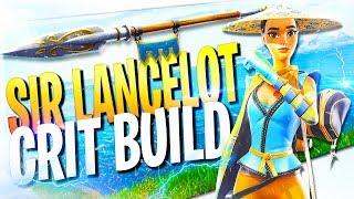 *CRIT BUILD* Sir Lancelot Full Legendary Perks   Fortnite Save The World