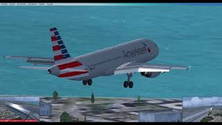 Landing Rio de Janeiro (SBGL) [FSX[  AMERICAN AIRLINES A320