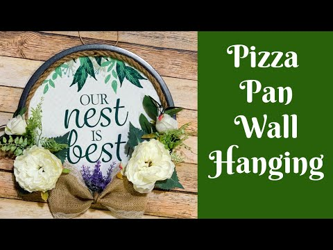 Everyday Crafting: Dollar Tree Pizza Pan Wall Hanging