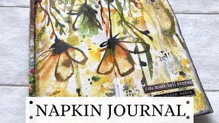 NAPKIN JOURNAL - 10 minute art journal- 3 SUPPLIES ONLY