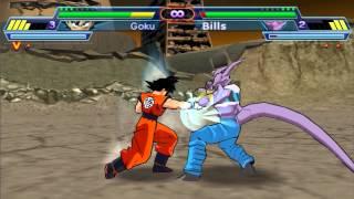 Dragon Ball Z Shin Budokai 2 - Goku Ssj God vs Bills
