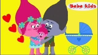 Family Bebe's Trolls - Police Station - Funny Stories For Kids & Nursery Rhymes