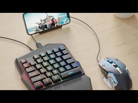IFYOO Mobile Game Keyboard And Mouse Combo Set - Compatible With IPhone / IPad, Android Phone