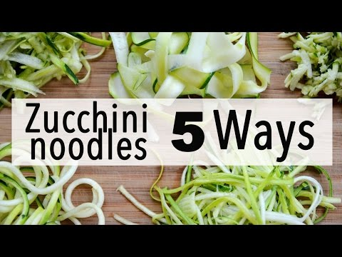 how-to-make-zucchini-noodles-|-5-easy-ways