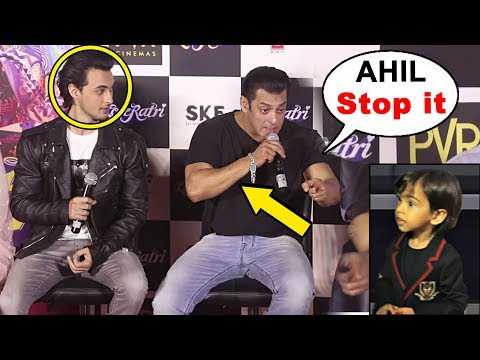 "Salman Khan Shouts On Nephew Ahil ""Stop It"" During At Loveratri Trailer Launch"