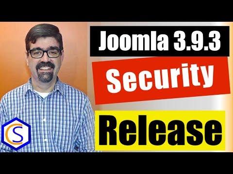 🗞 Live Bulletin -  🔧Joomla! 3.9.3 Security and Bug Release - 2 How to update Joomla Tutorials thumbnail