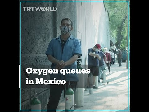 Mexicans queued up to refill oxygen tanks amid Covid-19 surge