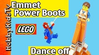Emmet Power Boots DANC! SpiderMan Lord Business UniKitty LEGO by HobbyKidsTV
