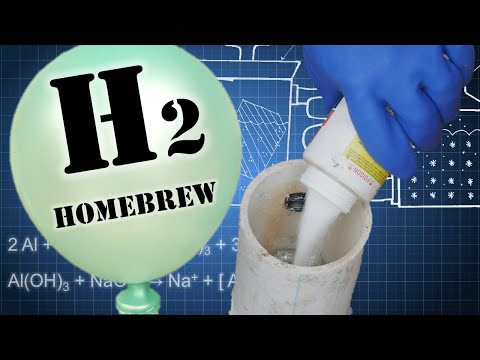 DIY Homemade Hydrogen (Aluminum + Water + Lye)
