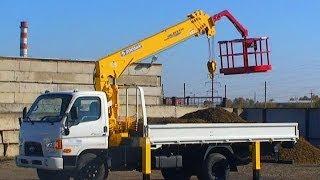 Работа крана манипулятора Hyundai HD78 3 тонны(, 2013-10-07T16:31:42.000Z)
