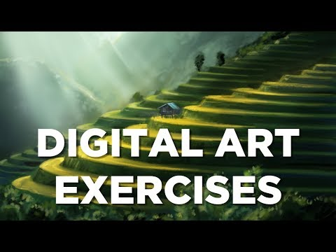 DIGITAL ART BEGINNERS EXERCISES