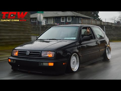 VW Golf MK3 Static On Porsche Rims Camber Tuning Project By Joey
