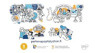 Uudenmaan ELY-keskuksen kansallisen hankkeen Perhevapaalta työhön paluun valmennuksen esittely. FI