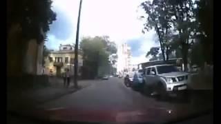 Гонщик разогнался ДТП! Авария! Видеорегистратор