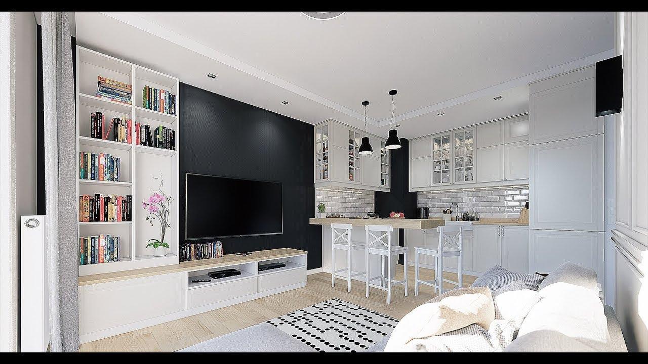 Projekt 40m2 Mieszkania Pod Wynajem W Oparciu O Meble Ikea