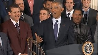Obama Welcomes Chicago Cubs to the White House (FULL EVENT) | ABC News