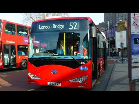 Single deck BYD Battery Electric Buses in London