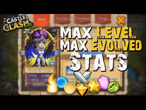 Castle Clash Max Leveled/Evolved Harpy Queen (Stats)