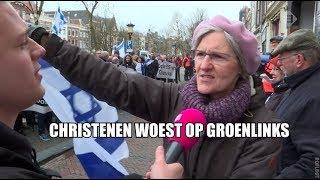 Christenen demonstreren tegen GroenLinks