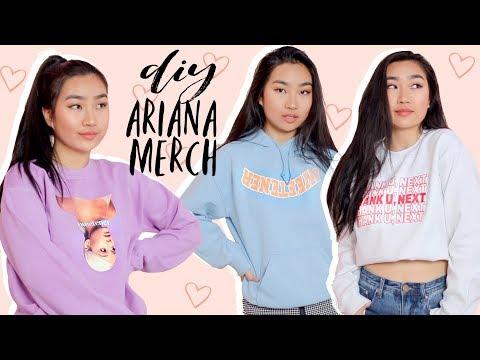 DIY Ariana Grande Merch + Singing 7 Rings (Cover) | JENerationDIY