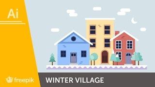 How to create a winter village in Adobe Illustrator - Maria Keller | Freepik