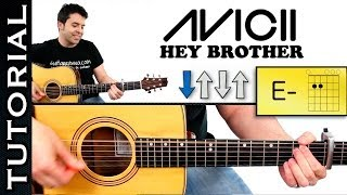 Como tocar HEY BROTHER AVICII guitarra acordes tutorial