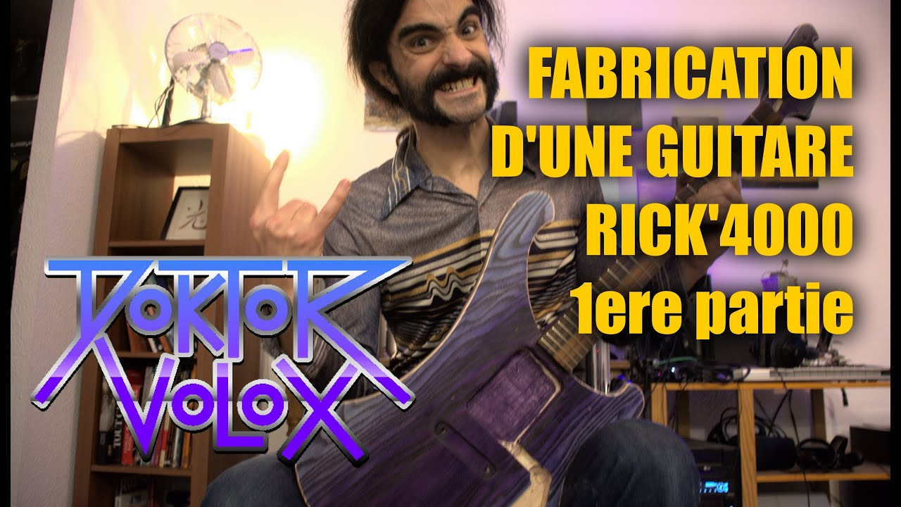 Download Fabrication du corps du manche d'une guitare électrique inspiration Rickenbacker4000. tuto lutherie