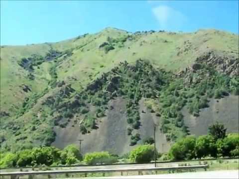 Utah and Idaho on Interstate 15 into Montana.