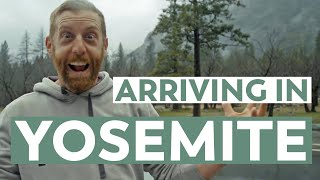 Arriving in Yosemite National Park & Skiing to Dewey Point! VLOG Part 1