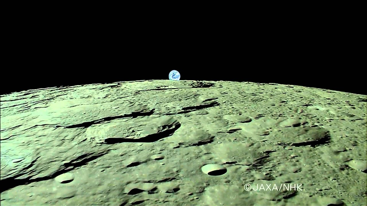 World's First HDTV Image Of 'Earth-Rise' Over Moon - YouTube