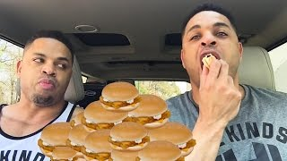 Eating 8 McDonalds Fish Fillet  Sandwiches Challenge @hodgetwins