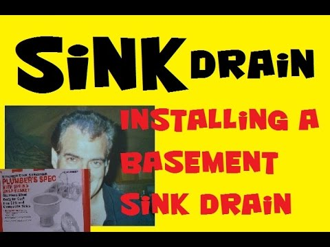 Sink Drain, Installing a Basement Sink Drain, Kitchen Sink Strainer Plumber's Spec K1436SSBN