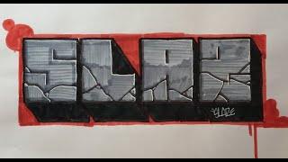 Graffiti Writing Tutorial 4 - Stone Block Letter (USING FELT TIP PENS!)