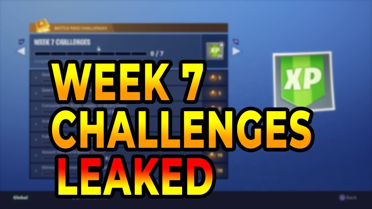 Fortnite Season 5 Week 7 Challenges Leaked Battle Pass Full Easy