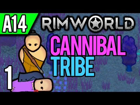 RimWorld Alpha 14 | Cannibal Tribe, NO FARMING, Volcanic Win