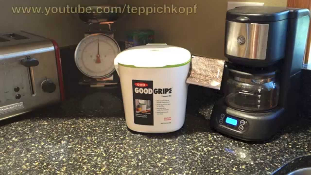 OXO Good Grips Kitchen Counter Compost Bin   Nice Sleek Design   YouTube