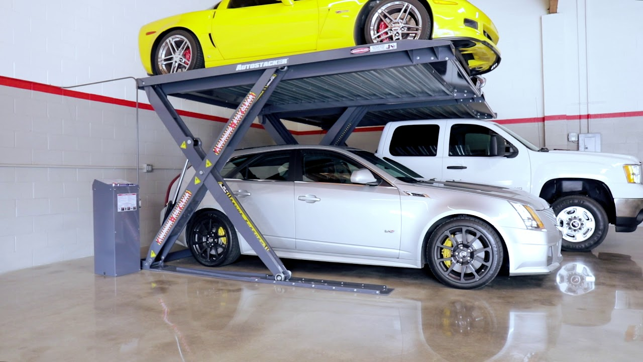 Domestic Garage Car Lift Autostacker Parking Lift That Fits In Your Garage