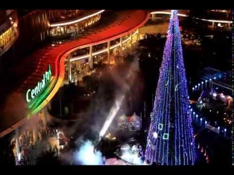 AMAZING!!! Laser & Fireworks at Central Park Mall Jakarta Dec 19th 2014