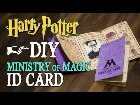 DIY Ministry of Magic ID - Harry Potter DIY