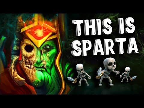 видео: 300 СПАРТАНЦЕВ wraith king patch 7.18 dota 2